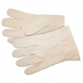 Knit Wrist Cotton Canvas Gloves